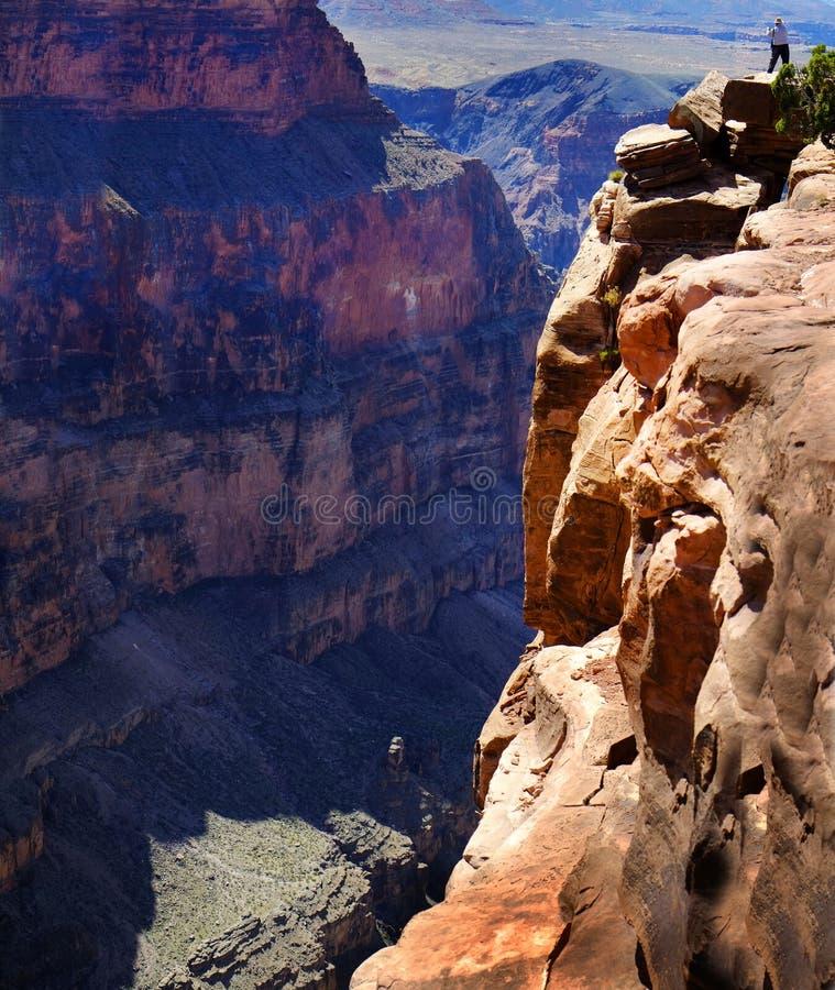大峡谷河岩石外缘 库存图片