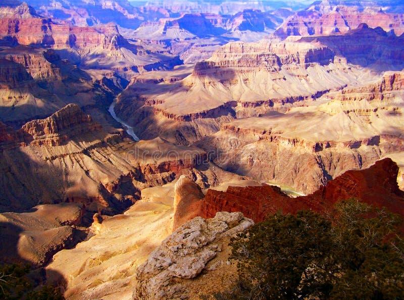 大峡谷的南外缘 免版税库存图片