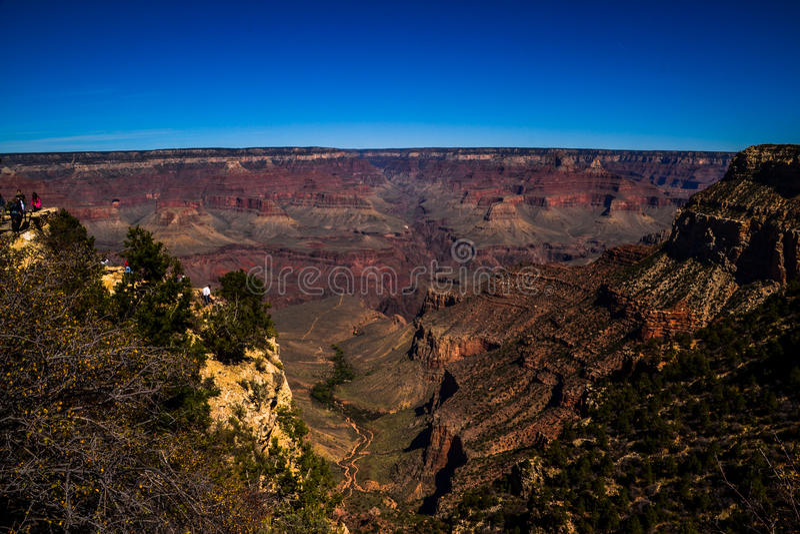大峡谷的峭壁 库存照片
