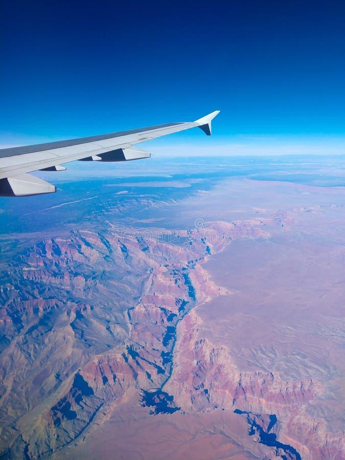 大峡谷的看法从天空的 免版税库存图片
