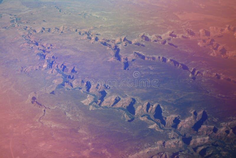 大峡谷的鸟瞰图在亚利桑那 免版税库存照片