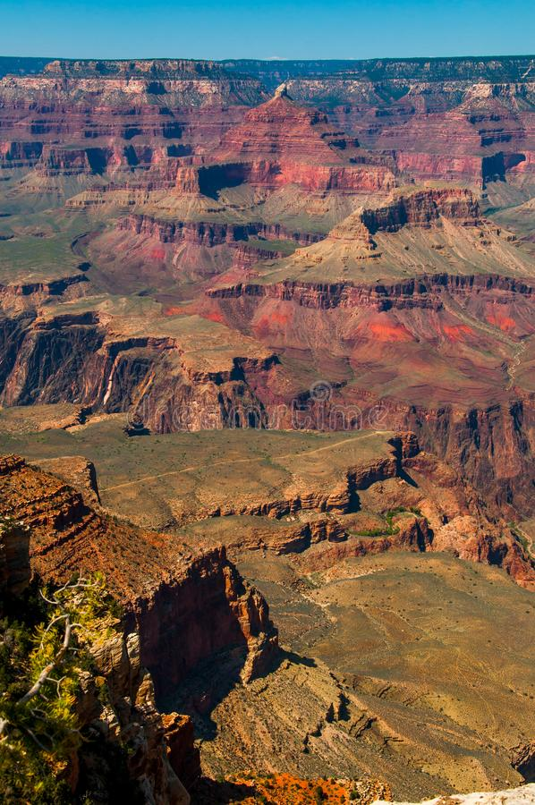 大峡谷看法明亮的颜色的 图库摄影