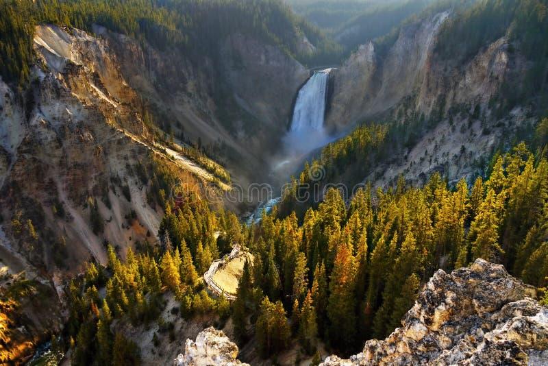 大峡谷秋天,黄石国家公园 免版税库存照片