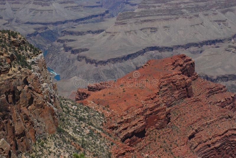 大峡谷纹理和颜色 库存照片