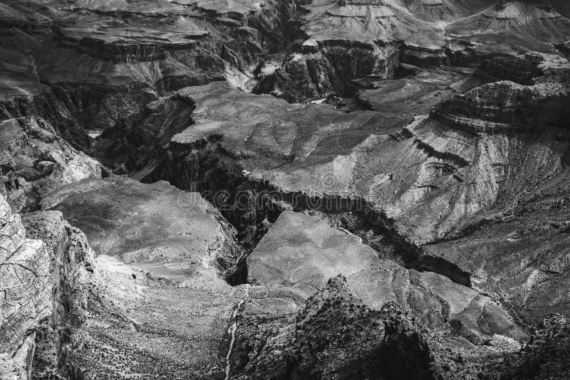 大峡谷黑白照片 免版税图库摄影