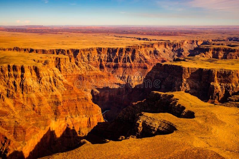 大峡谷,亚利桑那空中风景视图  库存图片