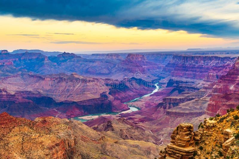 大峡谷,亚利桑那,从南外缘的美国 免版税库存照片