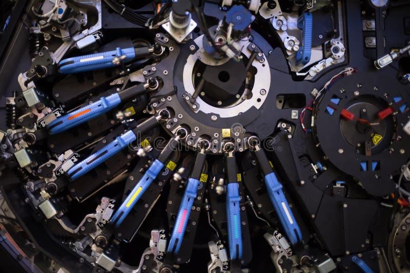 大工业打印机机器零件 免版税图库摄影