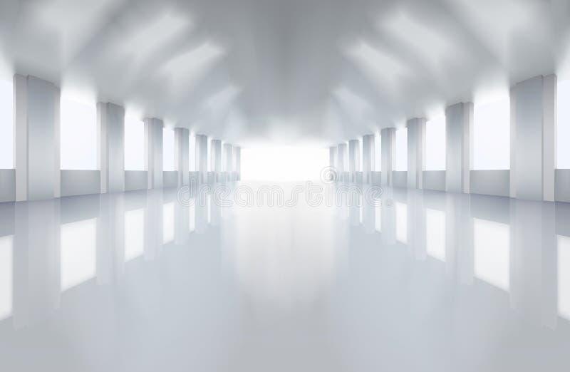 大工厂地板 也corel凹道例证向量 库存例证