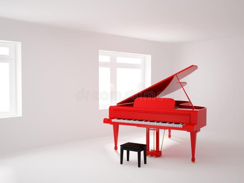 大平台钢琴空间 库存例证