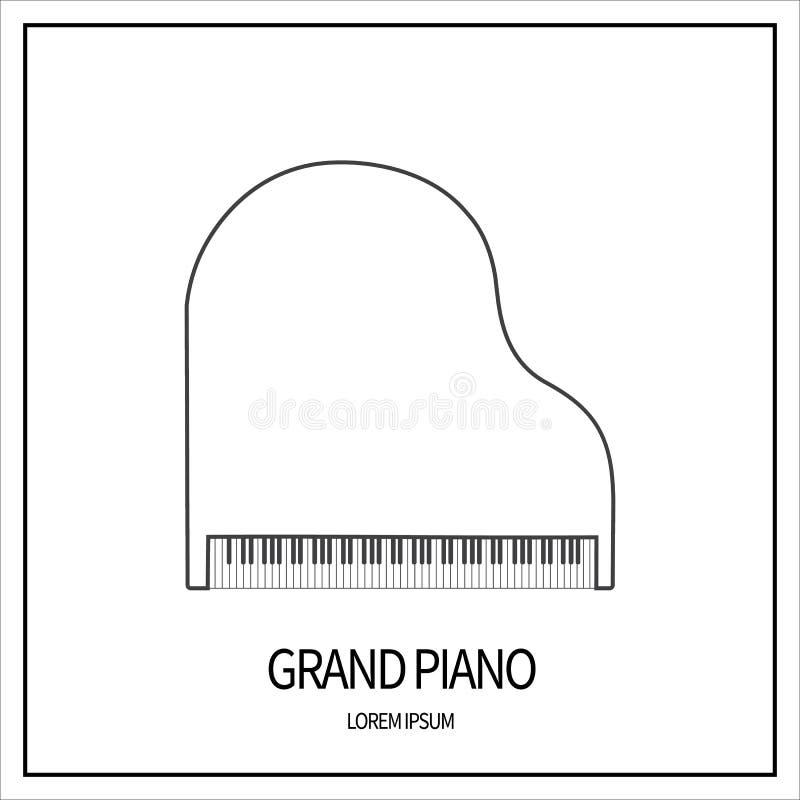 大平台钢琴象 皇族释放例证