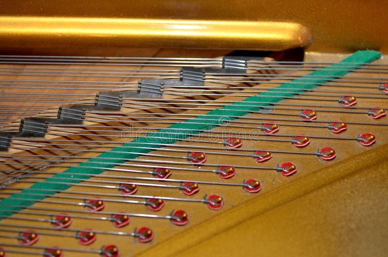 大平台钢琴细节 免版税库存图片