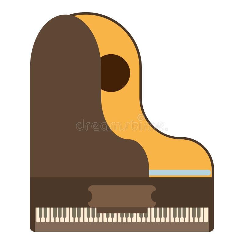 大平台钢琴象,平的样式 皇族释放例证