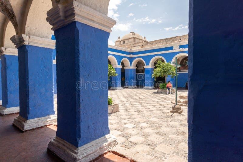 大广场和大教堂教会在秘鲁 图库摄影
