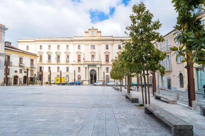 大广场在波滕扎,意大利 免版税库存照片