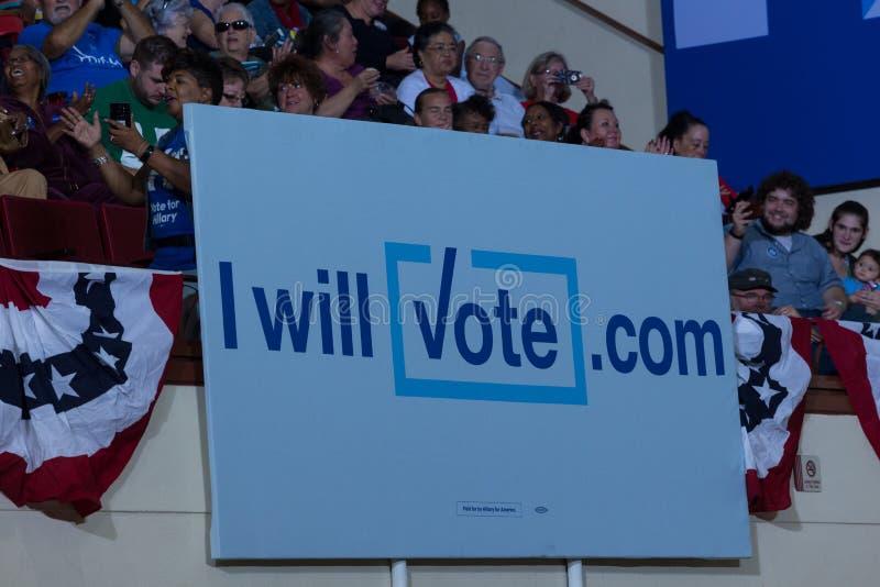 大我将投票标志 库存图片