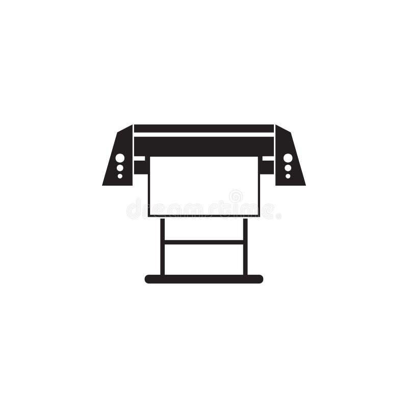 大打印机图标 印刷厂例证的元素 优质质量图形设计象 标志和标志汇集象 向量例证