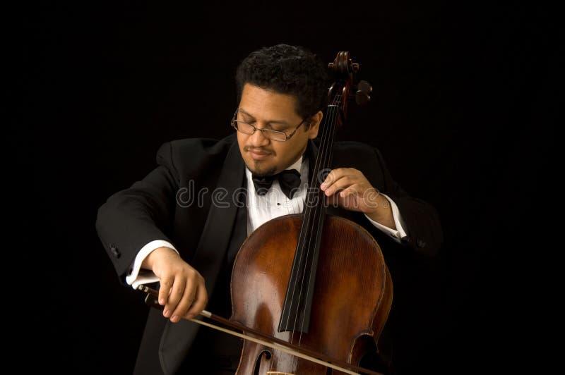 大提琴手 免版税库存照片