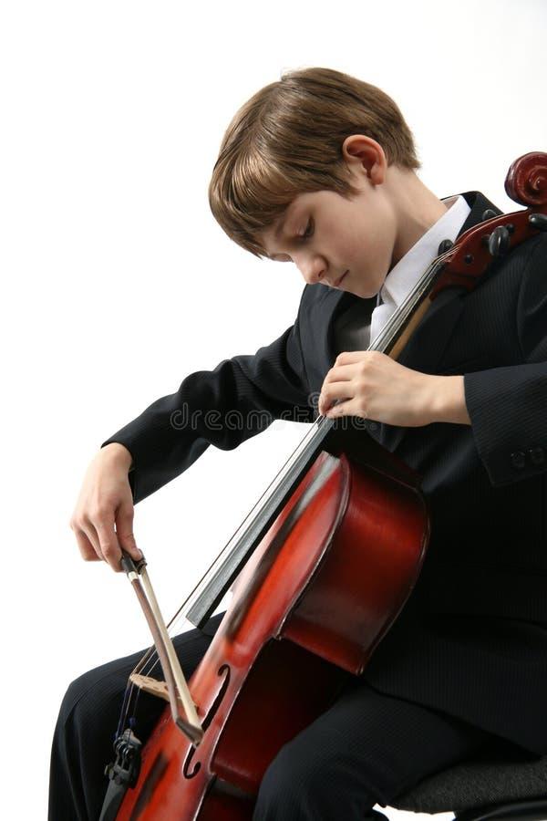 大提琴音乐 免版税库存图片