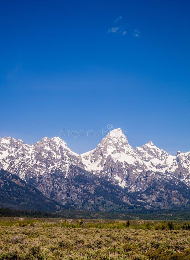 大提顿峰-登上Teton 库存照片