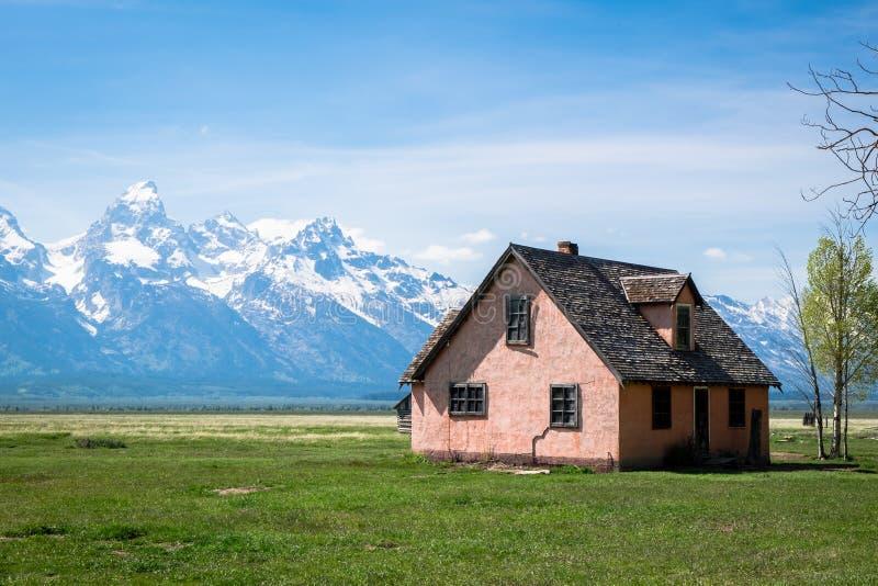 大提顿峰-登上Teton 库存图片