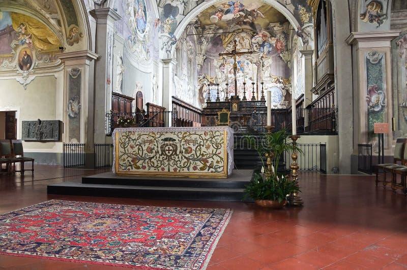 大教堂。博比奥。伊米莉亚罗马甘。意大利。 免版税图库摄影