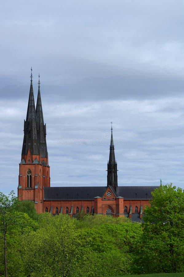 大教堂乌普萨拉 免版税库存照片