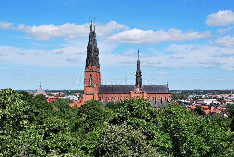 大教堂乌普萨拉 库存照片