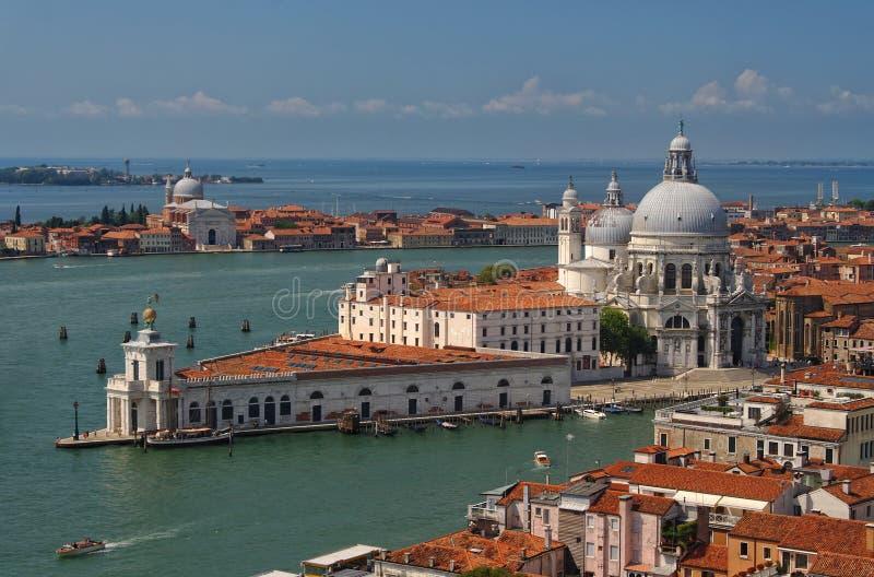 大教堂二圣玛丽亚看法在威尼斯,意大利 免版税库存图片