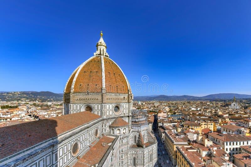 大教堂二圣玛丽亚del菲奥雷-佛罗伦萨,意大利 免版税图库摄影