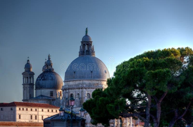 大教堂二圣玛丽亚della致敬,威尼斯,意大利 免版税库存照片
