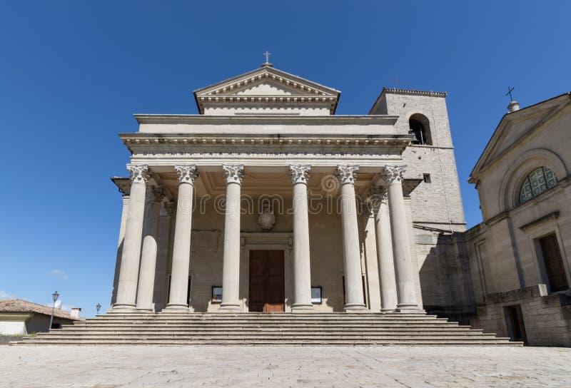 大教堂二圣马力诺 免版税库存照片