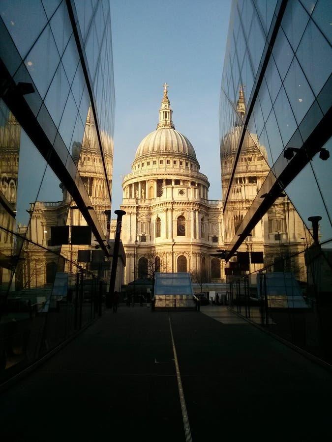 大教堂伦敦pauls st 库存照片