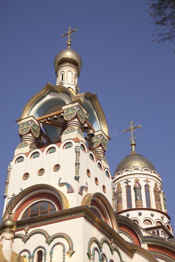 大教堂俄国s索契st vladimir 免版税图库摄影