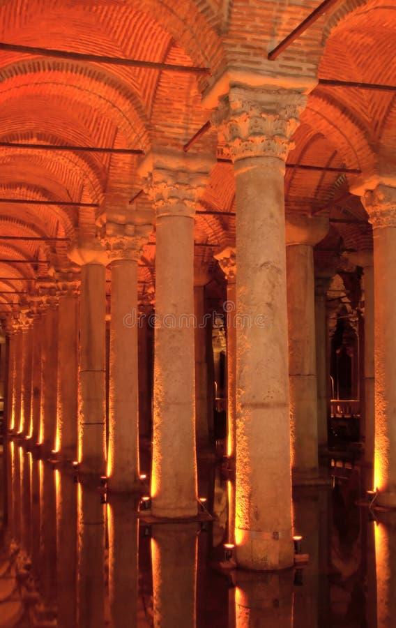 大教堂储水池,伊斯坦布尔,土耳其 免版税图库摄影
