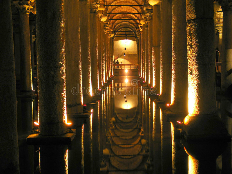 大教堂储水池 库存图片