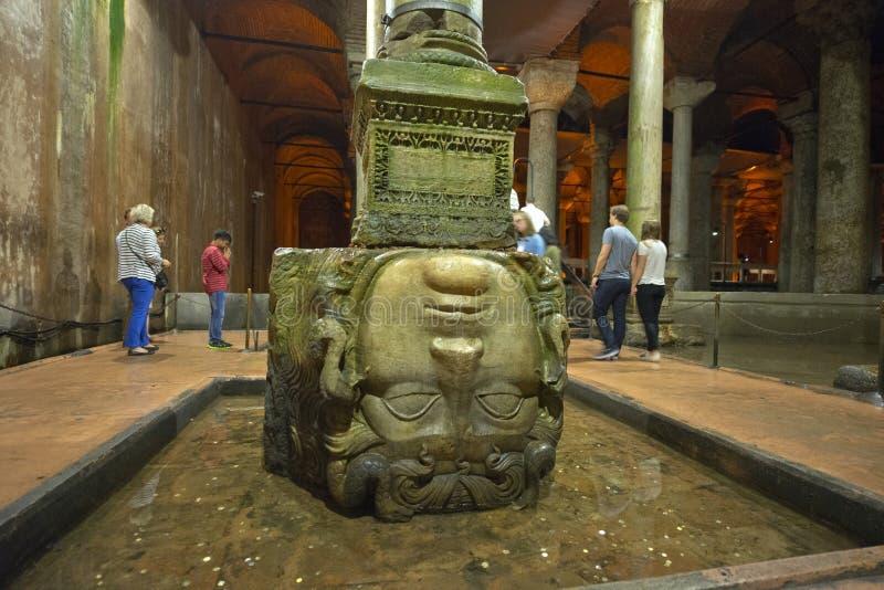 大教堂储水池,伊斯坦布尔,土耳其 库存照片