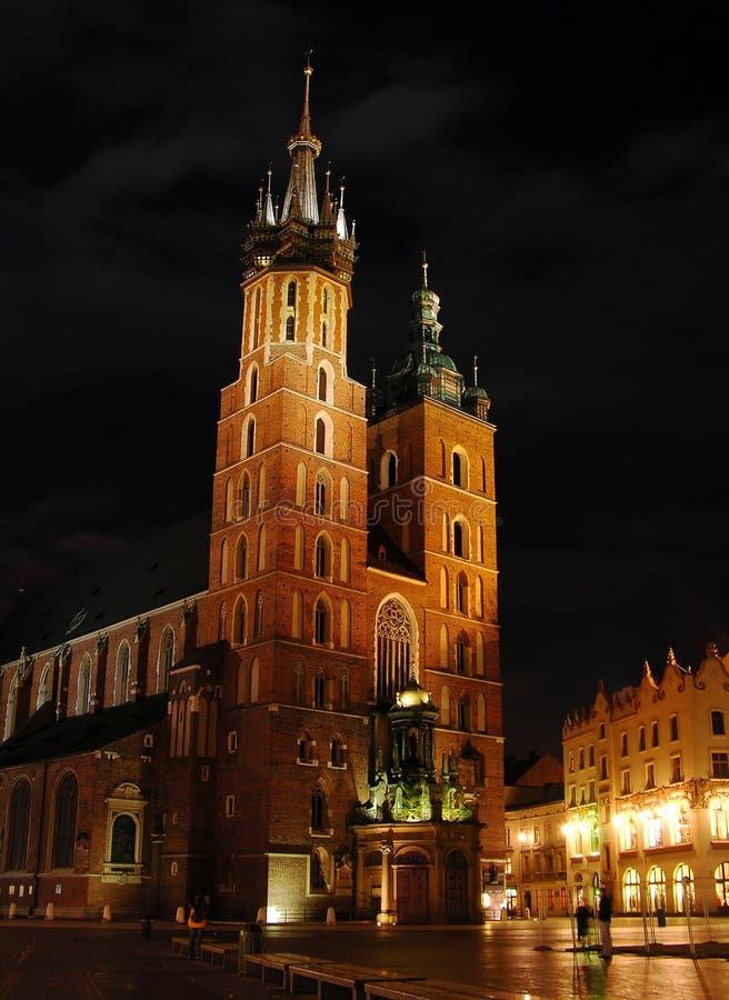 大教堂克拉科夫玛丽・波兰s st 免版税图库摄影