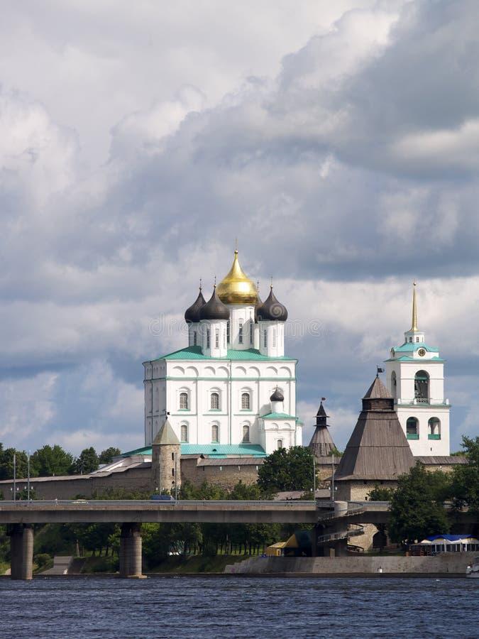 大教堂克里姆林宫普斯克夫 图库摄影