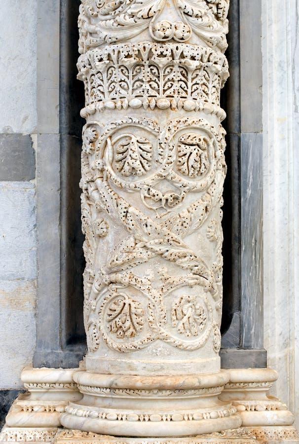 大教堂列大理石比萨 库存图片