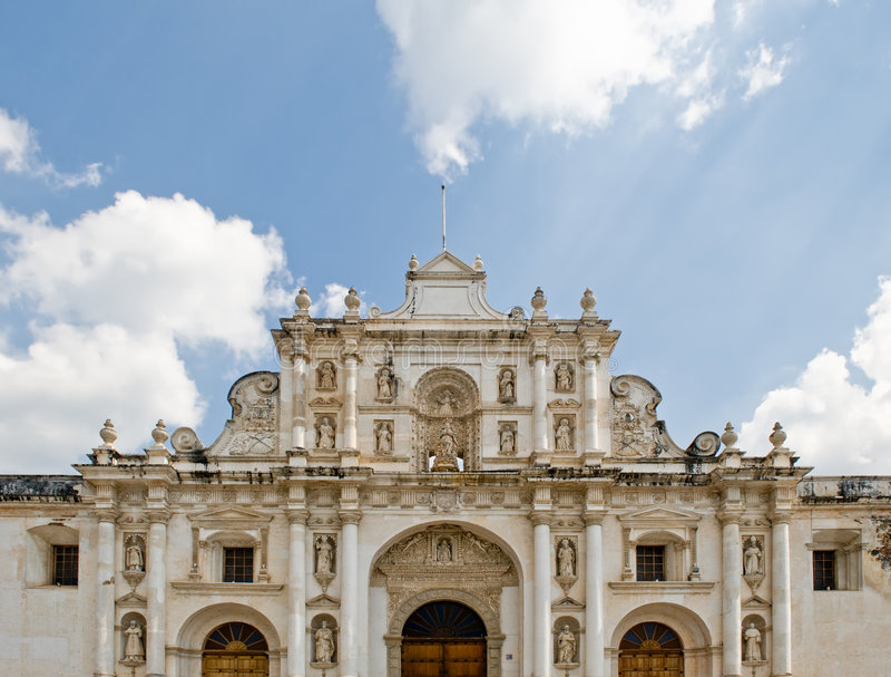 大教堂危地马拉人 免版税图库摄影