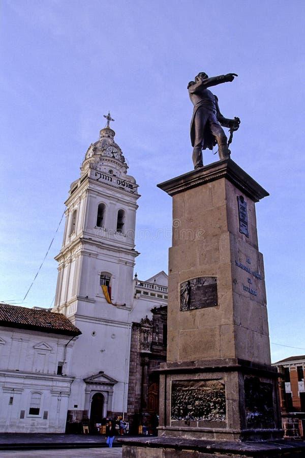 大教堂厄瓜多尔基多雕象 图库摄影