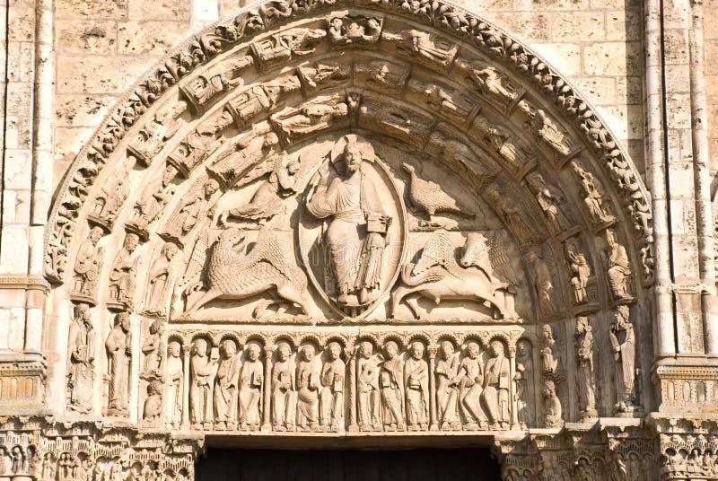 大教堂哥特式的沙特尔 免版税库存照片