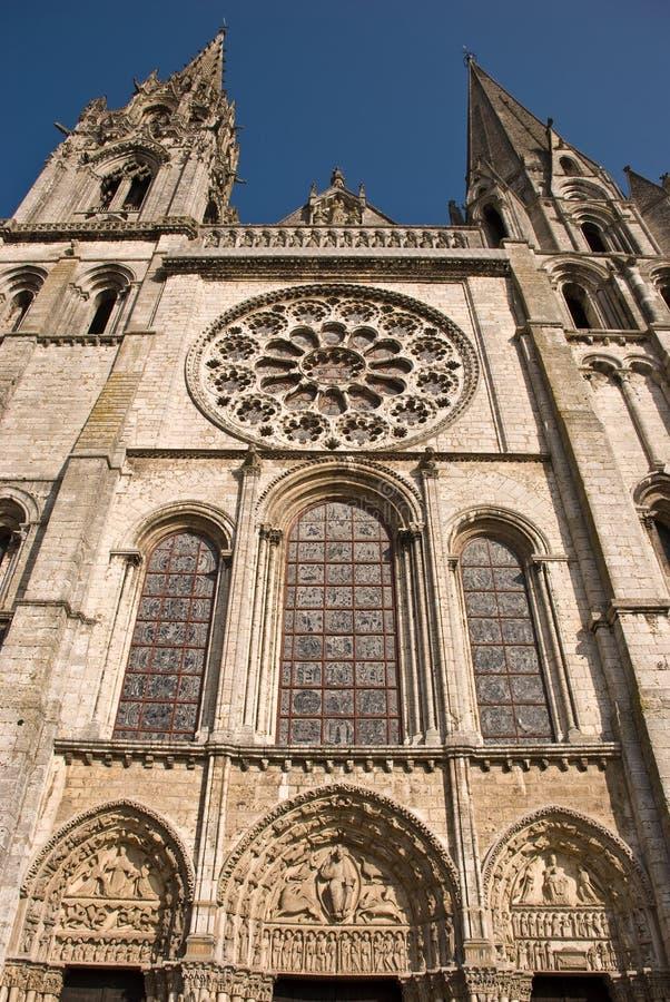 大教堂哥特式的沙特尔 免版税库存图片