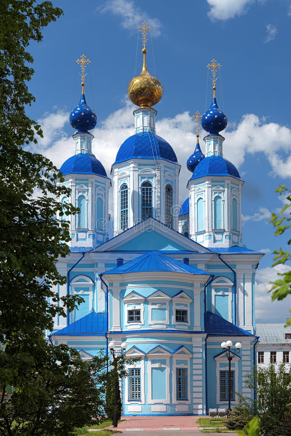 大教堂喀山俄国坦波夫 库存图片