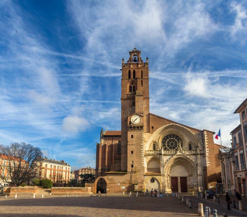 大教堂图卢兹,法国圣埃蒂安  免版税库存图片
