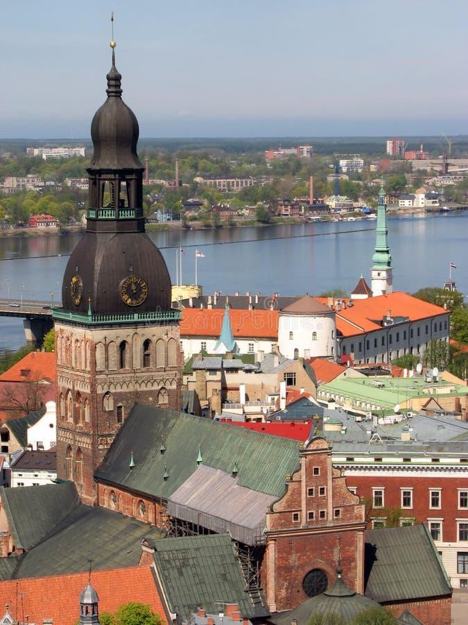 大教堂圆顶里加 免版税库存图片
