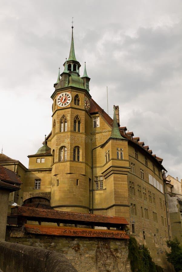 大教堂圣尼古拉斯Fribourg,瑞士 免版税库存照片