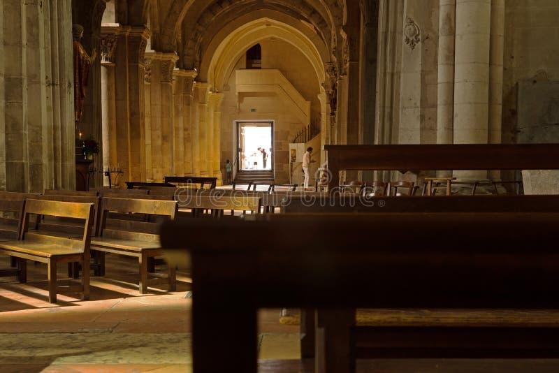 大教堂圣文森特,沙隆sur赛隆,法国 免版税图库摄影
