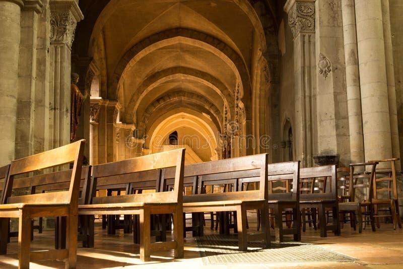 大教堂圣文森特,沙隆sur赛隆,法国 库存图片